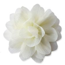 7cm Lily CREAM Fabric Flower Applique